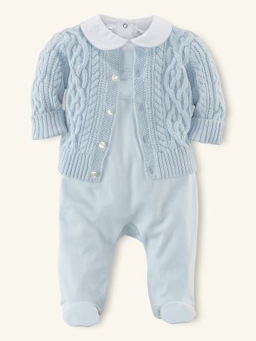 c8cf0c252 3-Piece Sweater   Bodysuit Set - Outfits   Gift Sets Layette Boy ...