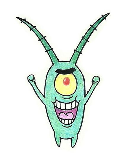 How To Draw Sheldon J Plankton From Spongebob Squarepants
