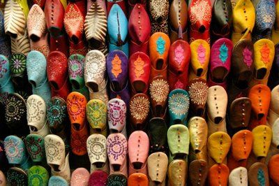 Moroccan shoes.