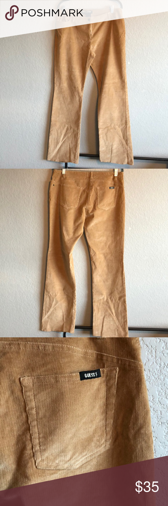 23314c194d Guess Jeans camel color corduroy pants Very little stretch bootcut corduroy  pants never worn. Retro vintage from early 2000s pants. No tags.
