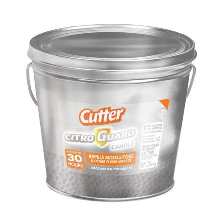 Cutter Citro Guard Citronella Candle Silver Bucket 17 Oz