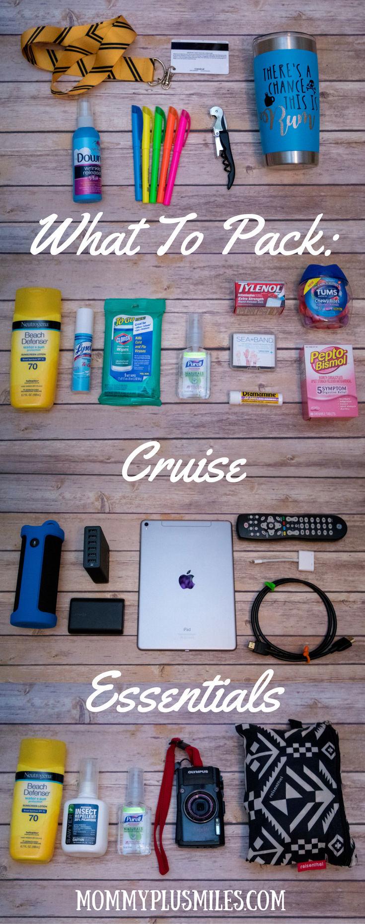 From ship essentials to healthcare, entertainment, and excursion essentials here is a comprehensive guide for what to pack for a cruise. With these cruise essentials in your luggage, you'll be able to stay happy and healthy while you cruise. #travelchecklist #summercruiseoutfits