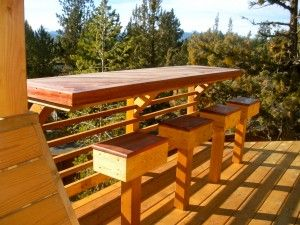 Outdoor Breakfast Bar Gardening Deck Bar Porch Bar