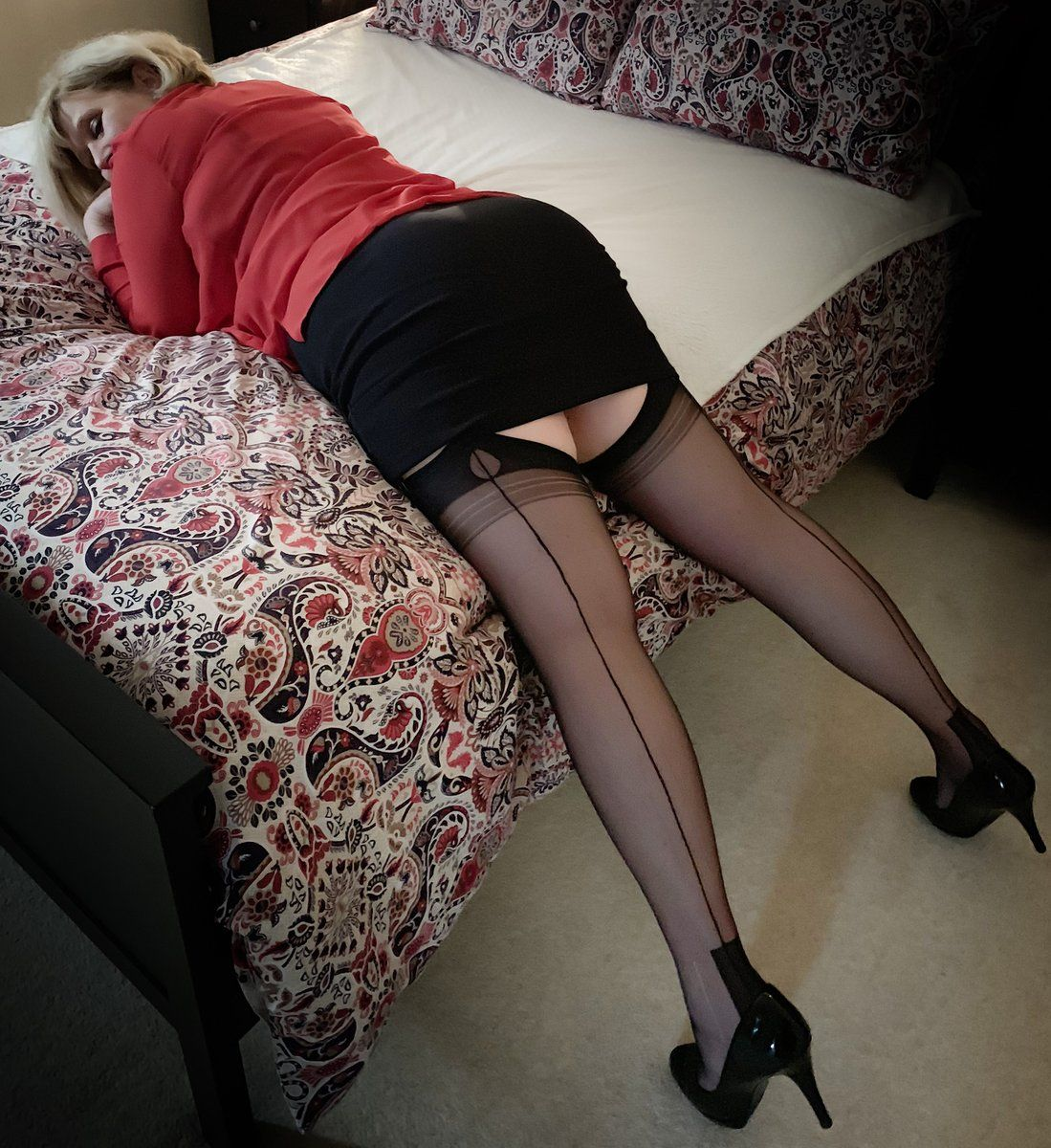 High Heels Stockings Creampie