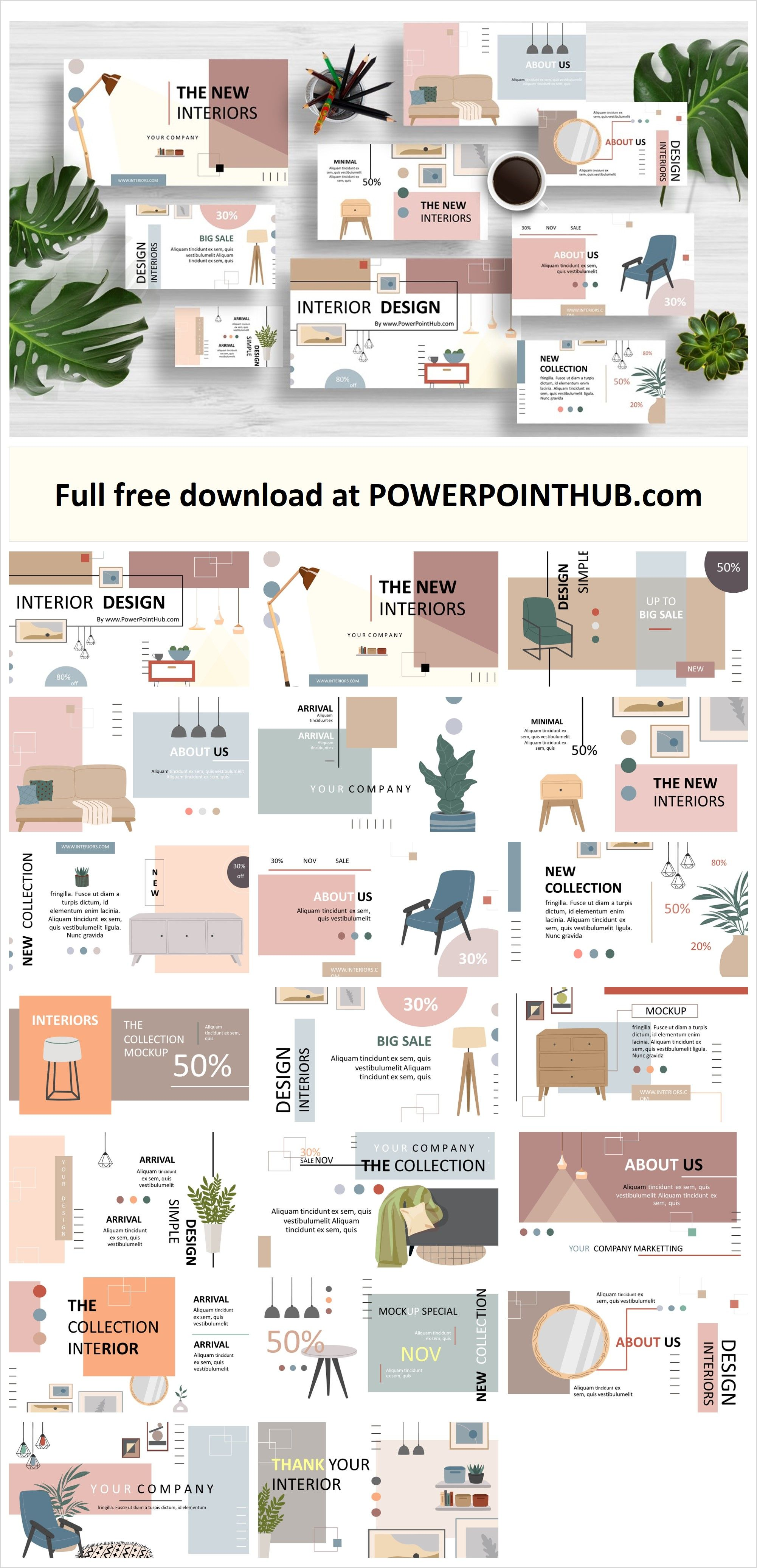 Free Download Interior Design Powerpoint Template Including Contemporary An In 2021 Powerpoint Design Templates Interior Design Template Powerpoint Presentation Design