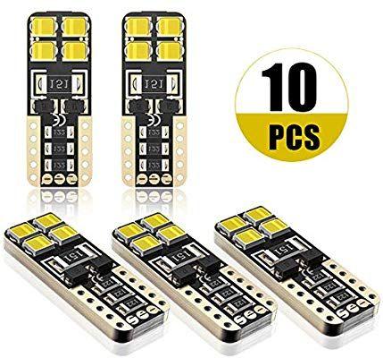 Amazon com: SEALIGHT 194 LED Light Bulb 6000K White Super Bright 168