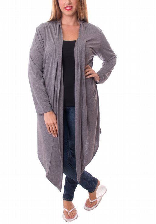 Oatmeal Long Cardigan Duster