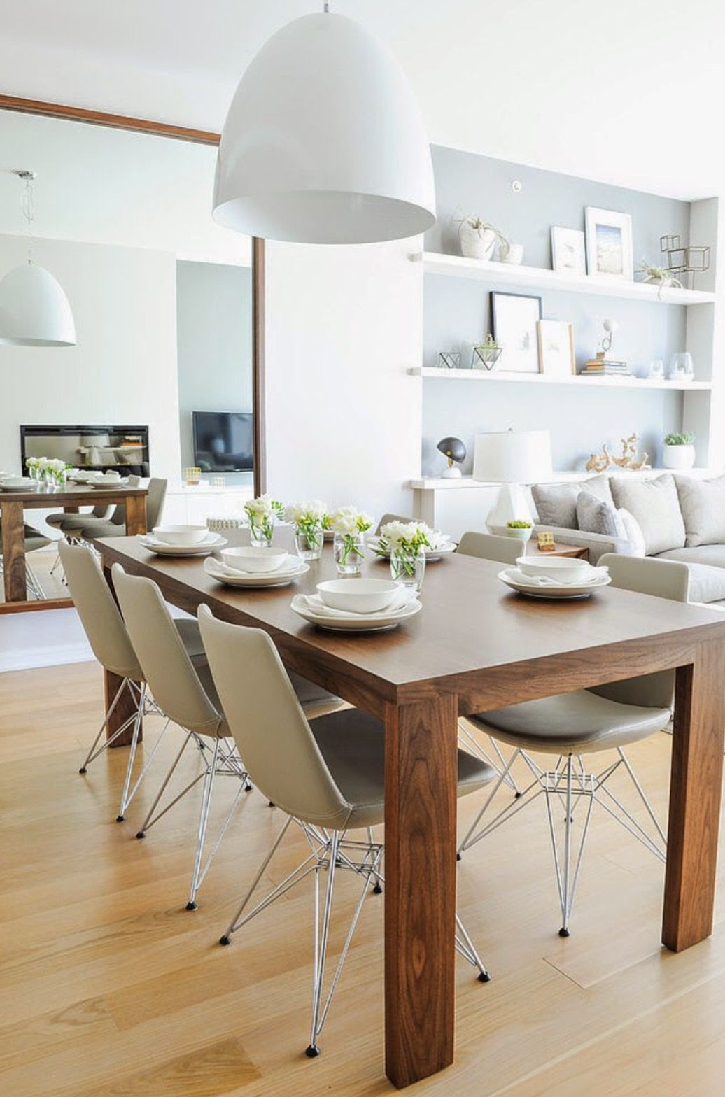 Mesa Espetacular Sal N Buhardilla Pinterest Comedores Mesas  ~ Como Decorar Una Mesa De Cocina