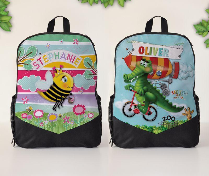 Personalised Kids Backpacks Kindy Bag School Bag   James things ...