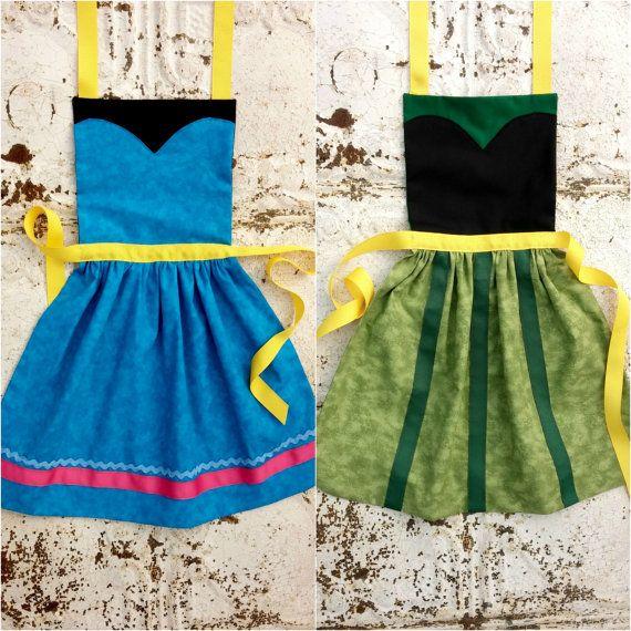 CORONATION Anna Elsa FROZEN Disney princess inspired Child Costume ...