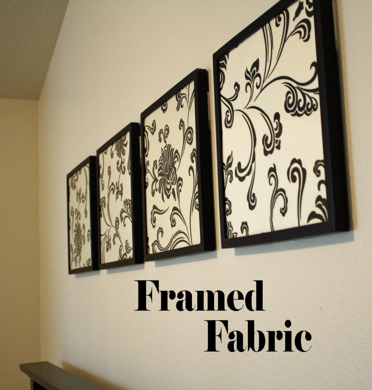 Framed fabric wall decor find a cute fabric that matches your
