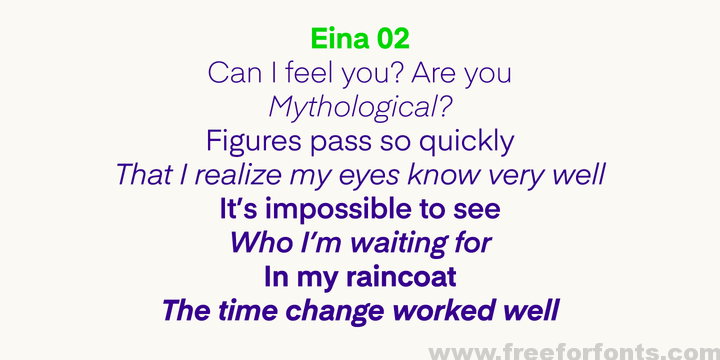 Eina Font Family Free Download | Free For Fonts | Design Resources