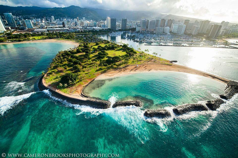 """Magic Island"" Ala Moana, Honolulu, Hawaii"