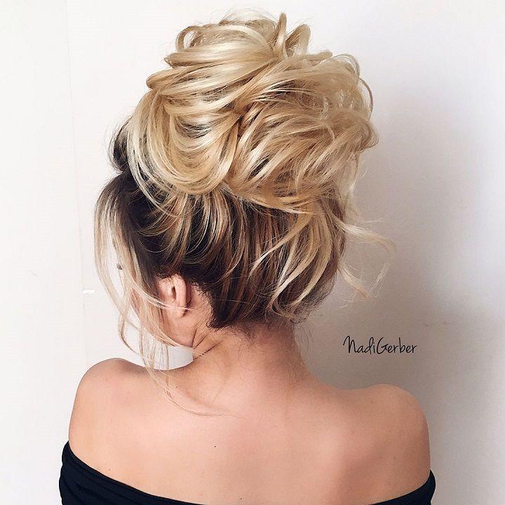 Beautiful high bun hairstyle for romantic brides | Pinterest | High ...