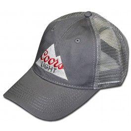 2c2bff8838c3af Coors Light Triangle Logo Trucker Hat. | Beer Hats | Hats, Baseball ...