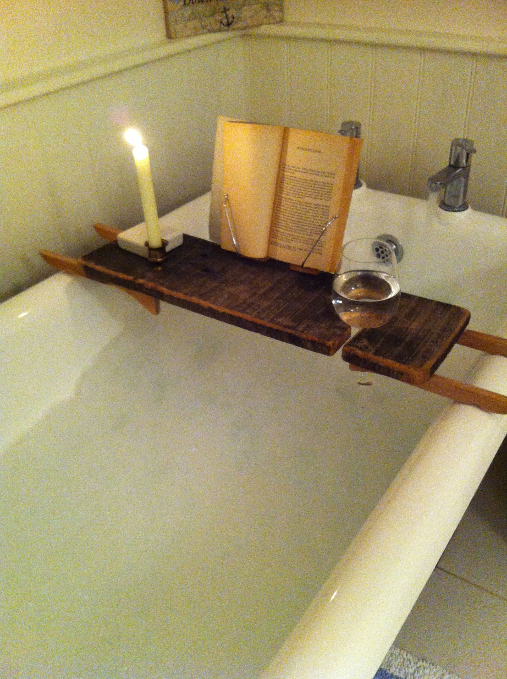 wood bath caddy- I have this and looooove it! | Shut up and take my ...
