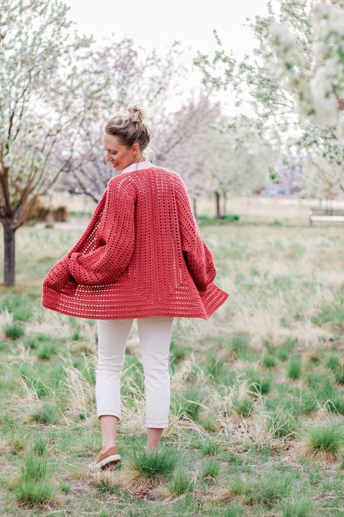 Free Easy Crochet Sweater Pattern A Cardigan Made From 2 Hexagons