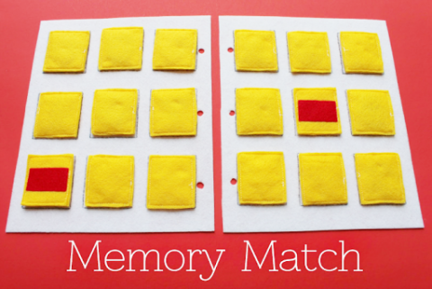 simple quiet book series memory match game busy book pinterest