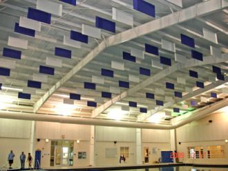 Commercial Soundproofing Solutions With Soundproof Materials Acoustic Baffles Sound Baffles Sound Proofing