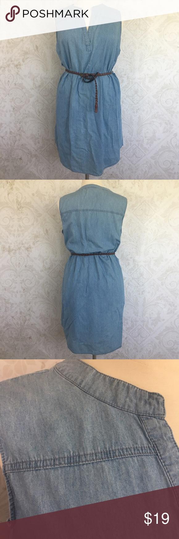 Plus Size Chambray Shirt Dress W Braided Belt Rue 21 Dresses