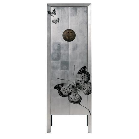 KARE Butterfly Cabinet, Silver