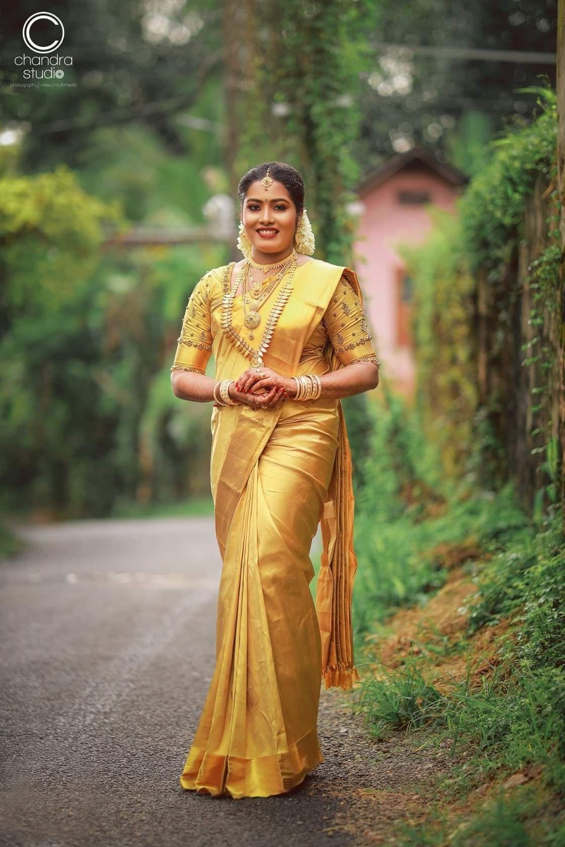Pin by Almeena on Saree's in 2020 Kerala saree blouse