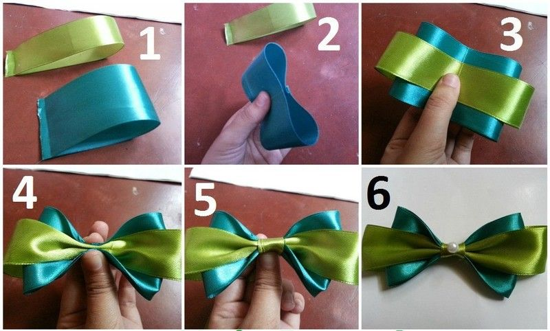 w to make a hair bow out of ribbon step by step - Google Search ...