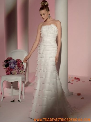 5784 Organza Vestido de Novia  Fara Sposa