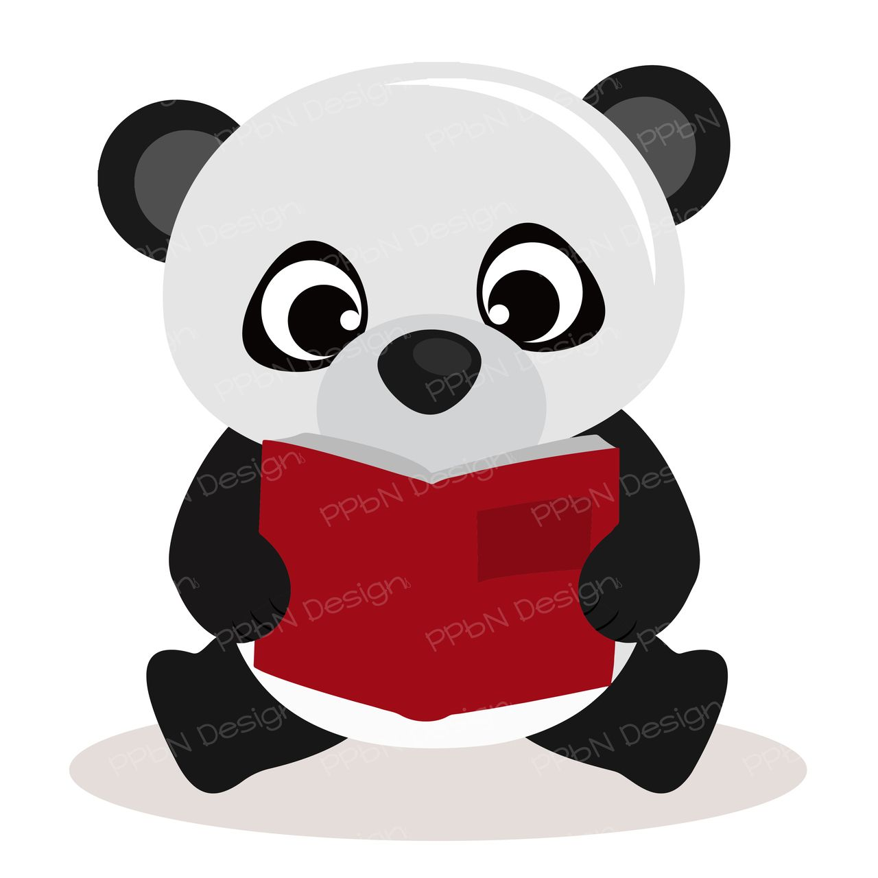 PPbN Designs - Reading Panda Bear, $0.00 (http://www.ppbndesigns.com ...