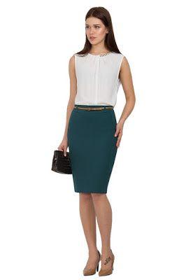 772ab4965 Faldas Elegantes para Oficina | Faldas en 2019 | Look, Saias y Looks