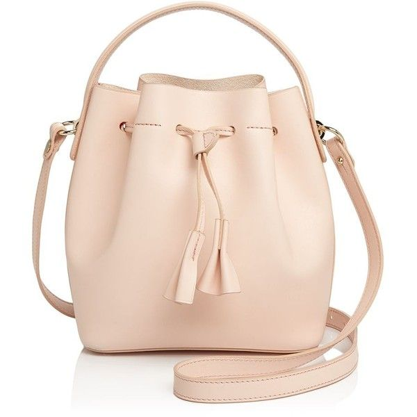 Celine Lefebure Karin Mini Leather Bucket Bag - 100% Exclusive ($560) ❤ liked on Polyvore featuring bags, handbags, shoulder bags, pink purse, pink leather handbags, mini handbags, leather bucket bags and leather handbags