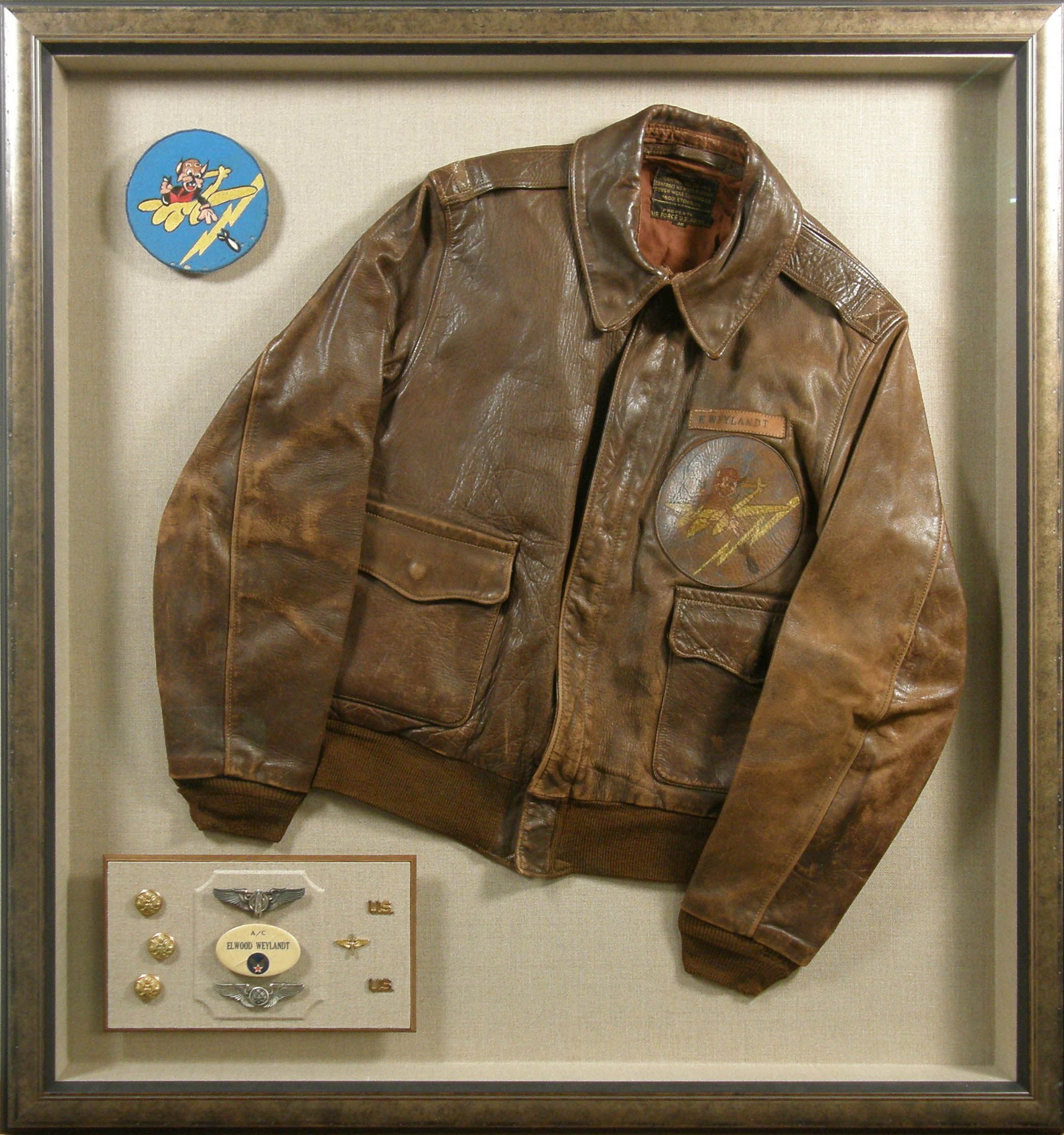 A Shadowbox Frame Is A Great Way To Save That Old Bomber Jacket
