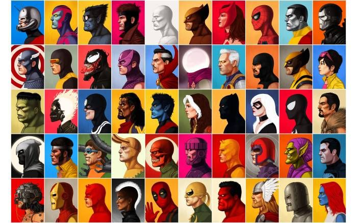 Vintage Marvel Superhero Villains Wallpaper