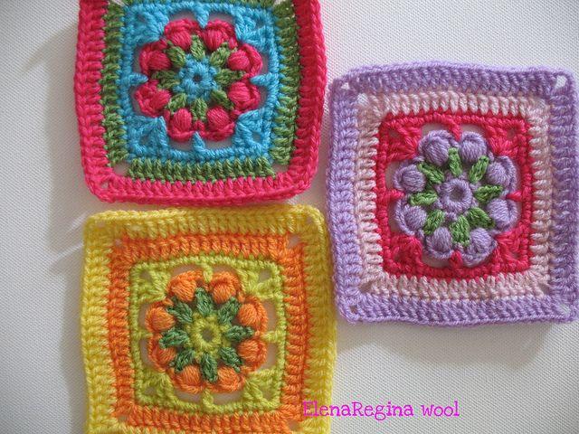 Granny patch tanti schemi liberi di mattonelle all - Piastrelle uncinetto pinterest ...