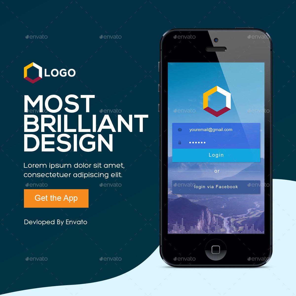 Mobile App Banner Bundle Mobile app, App, Banner ads