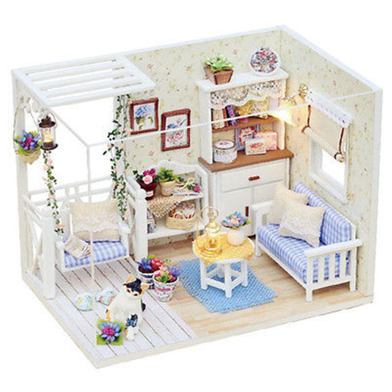 Cheap Diy Wood Dollhouse Miniature, Buy Quality House Room Directly From  China Doll House Room