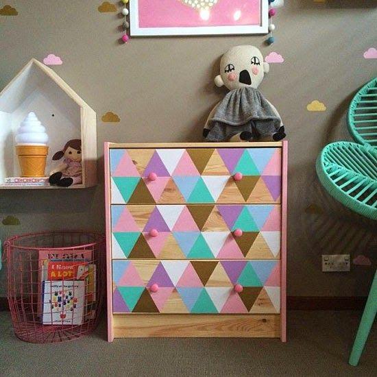 Ikea hacks for girls mommo design kids room camerette decorare cassettiere e stanza di - Stickers bambini ikea ...