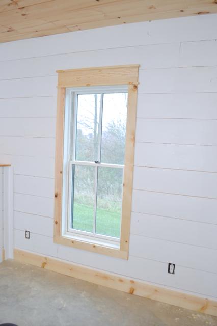 DIY shiplap walls and farmhouse trim NewlyWoodwards in