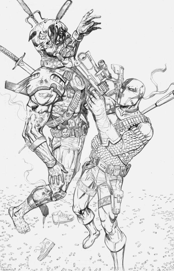 DeadPool vs DeathStroke Commission 2 by ErollSeeinDA ...