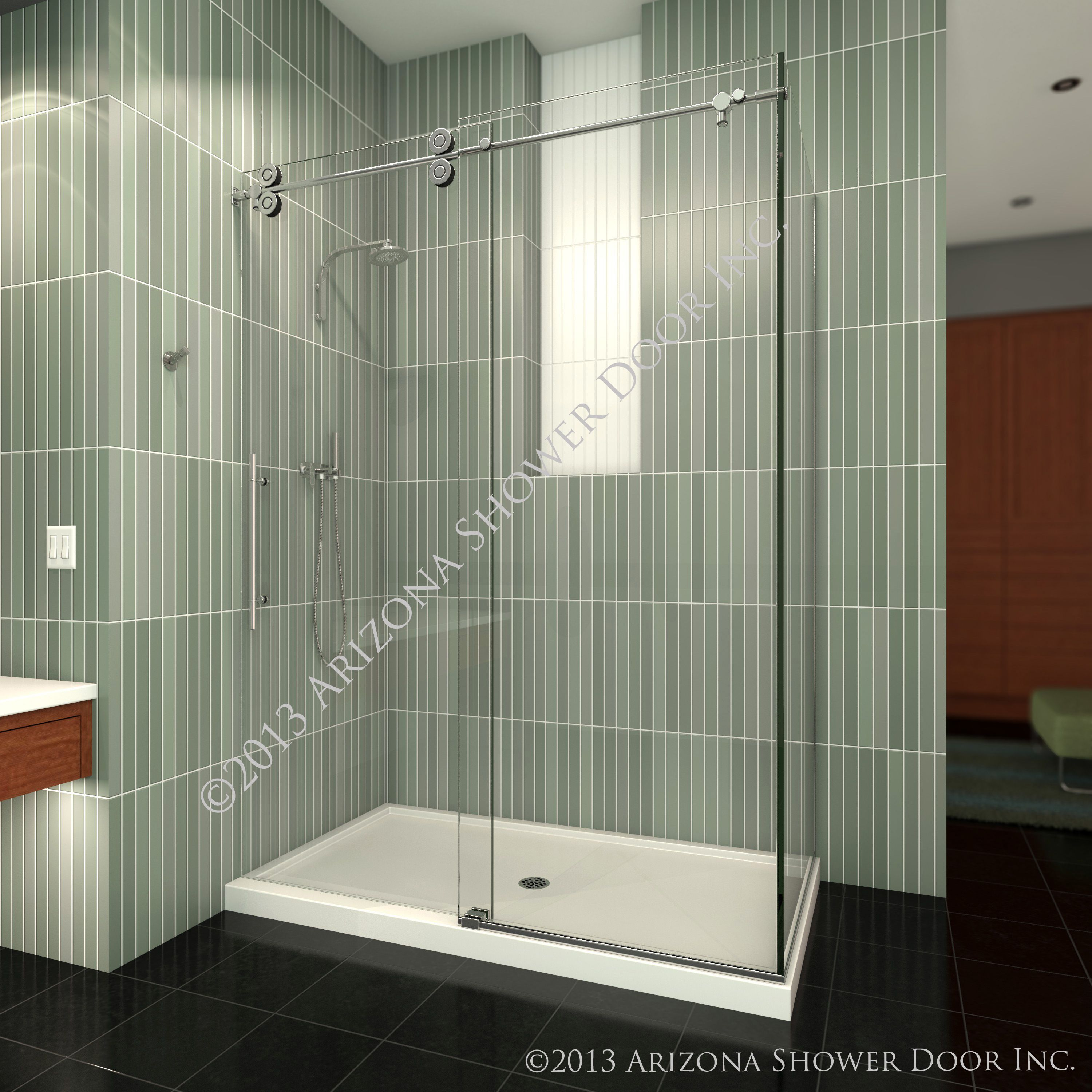 Sedona Series Heavy 3 8 Quot Frameless Glass With Round