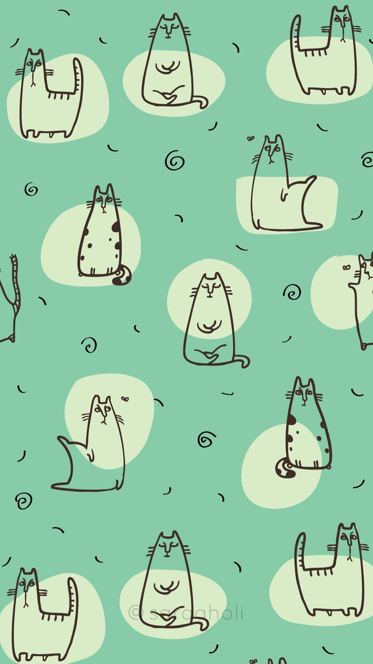 Couple Wallpaper iPhone Cat - Couple