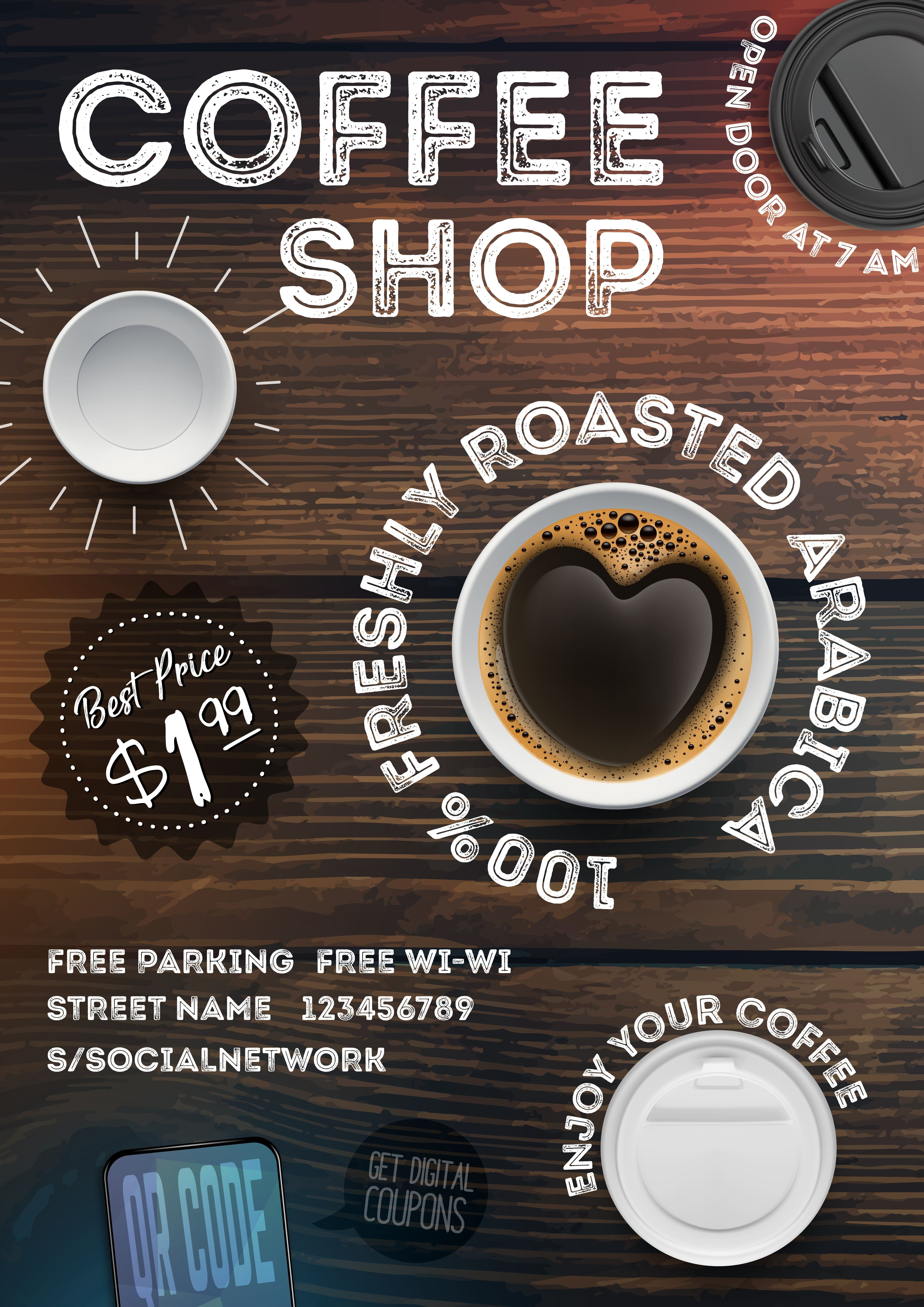 1000+ images about Cafe Flyer on Pinterest |New Coffee Shop Flyer