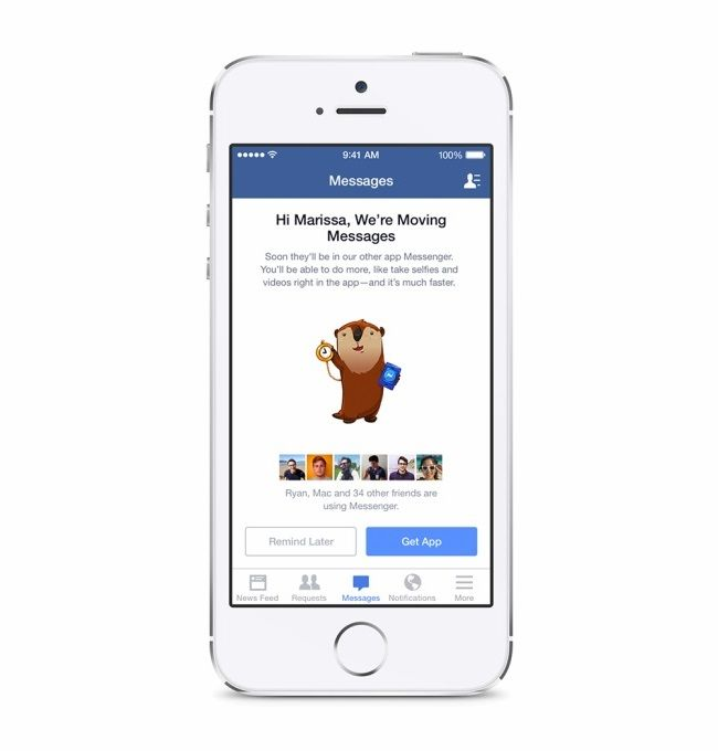 acebook Pushing Messenger, Removing Messages from iOS