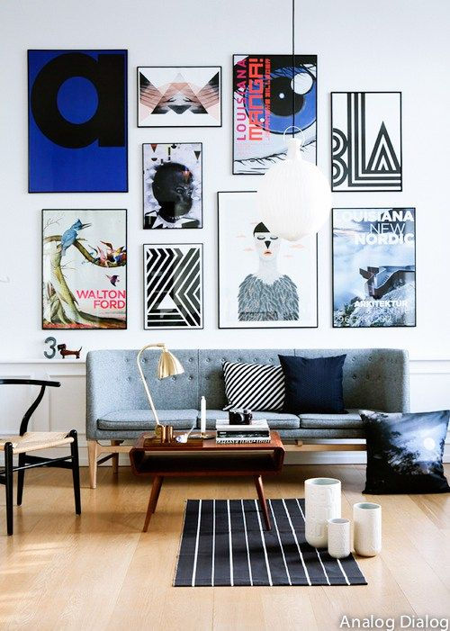 analogdialog mur de cadres deco art parement mural. Black Bedroom Furniture Sets. Home Design Ideas