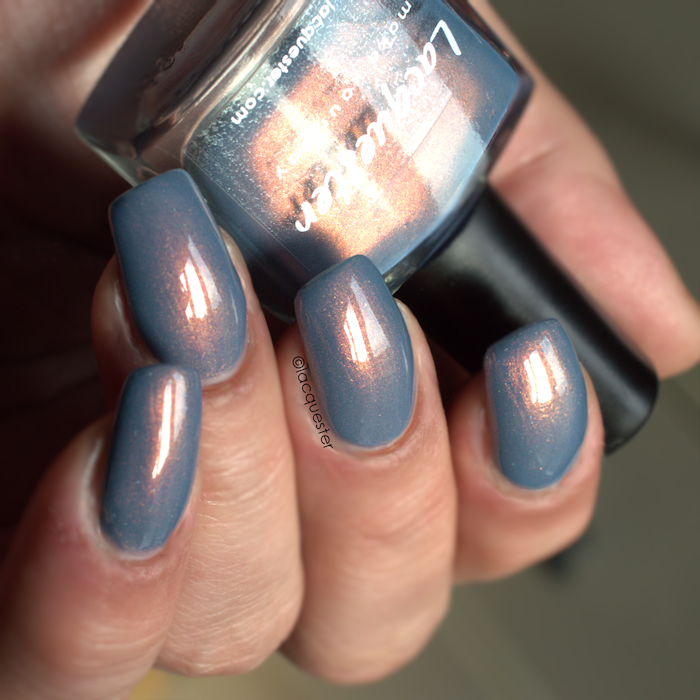 Copper River A Misty Blue Polish With Loads Of Copper