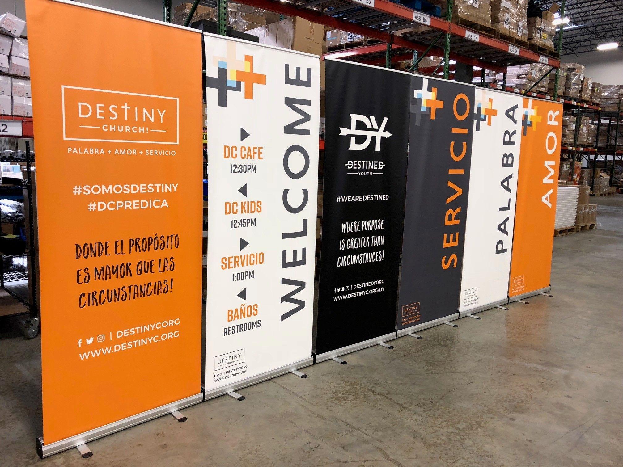 Vinyl Retractable Banner Stand Standing Banner Design Retractable Banner Design Banner Design Inspiration