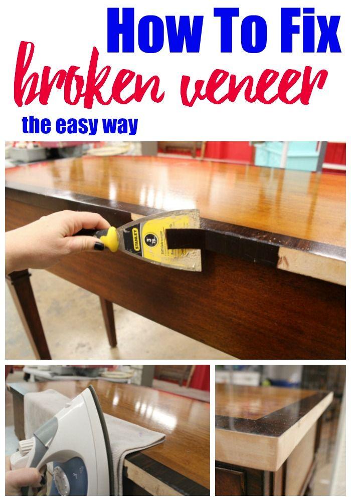 How To Repair Broken Veneer Refunk My Junk Furniture