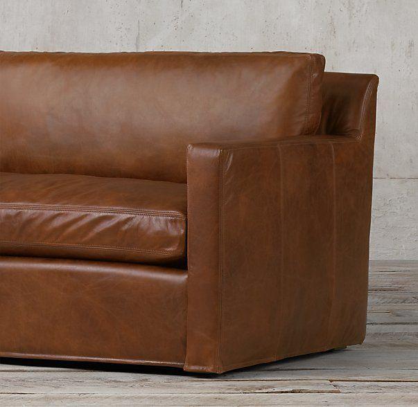 Gentil The Petite Belgian Track Arm Leather Sofa