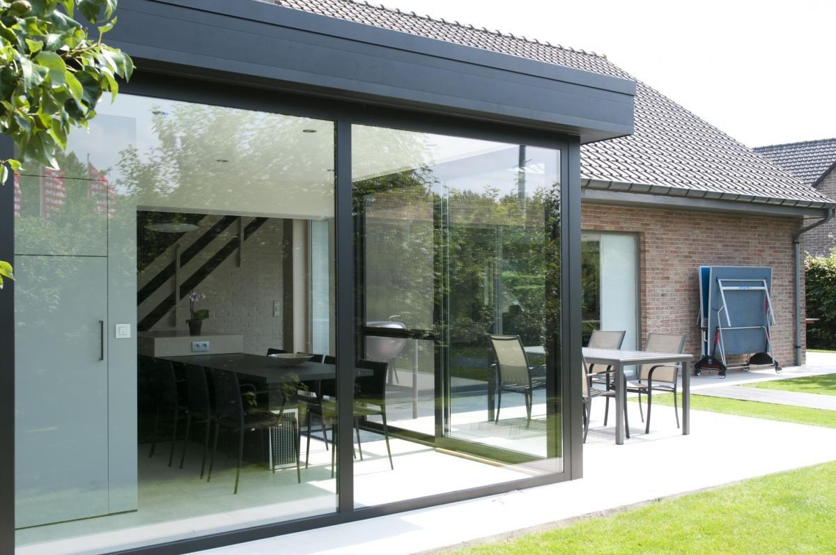 Afbeeldingsresultaat voor uitbouw veranda met plat dak the