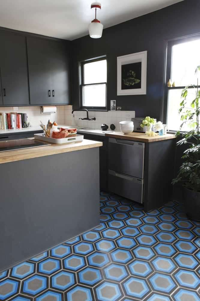 Elegant Blue Kitchen   Kismet Tile By Tracey Reinberg